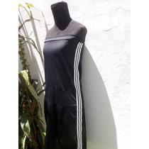 Vestido Negro Tipo Deportivo De Tela Ventilada Talle S