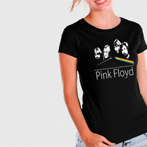 Camiseta Pink Floyd Group Feminina - Ar