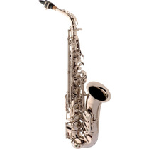 Frete Grátis - Eagle Sa500n Saxofone Alto Em Mib Niquelado