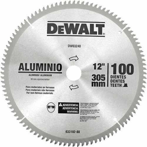 Disco serra esquadria p aluminio 12 305mm 100 dentes - Disco corte aluminio ...