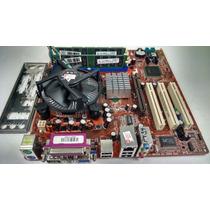 Kit Placa Mãe Itautec Ddr + Pentium 4 3.0 + Cooler + 1gb