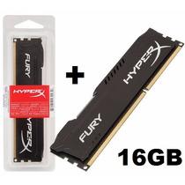 Kit 16gb 2x Memória 8gb Ddr3 1600mhz Kingston Hyperx Black