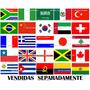 Bandeiras Países Cetim Alto Brilho 1,50 X 90cm Lindas