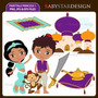 Kit Imprimible Princesa Jasmine Aladdin 2 Imagenes Clipart