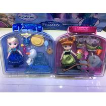 Set De Figuras De Disney De Frozen ! Ana Y Elsa