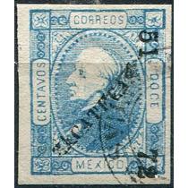 1910 Clasico Scott #94 Zacatecas #51 72 12c Usado 1872
