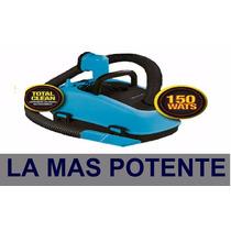 Aspiradora Para Auto 12v Inflador Redonda 2en1+guante