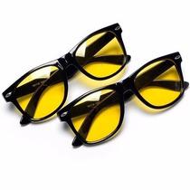 Óculos Lentes Com Proteção Night Drive Amarela - Fotos Reais