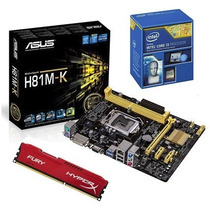 Kit Asus H81m-k + Core I3-4170 + 8gb 1600mhz Hyperx