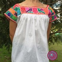 Blusas Campesinas Bordadas A Mano 100% Mexicanas