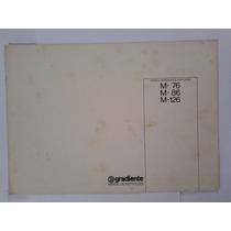 Manual Original Amplificador Gradiente Model 76 86 126