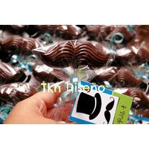Paleta Bigote Chocolate Personalizado Mostacho Bebé Xv Boda
