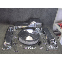 Ford 302 289 Kit Tapas, Mariposas, Filtro Y Carter Cromado