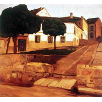 Lienzo Tela Calle En Ávila Diego Rivera 1908 50 X 54 Cm Arte