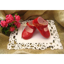 Sapato Sapatinho Social Infantil Menina Bebê - Vermelho Mod1