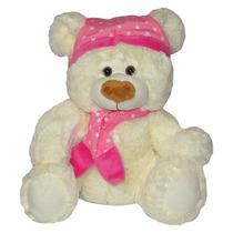 Urso De Pelúcia Soneca - Dorminhoco Gorro Rosa