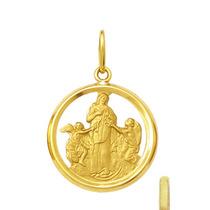 Medalha Nossa Senhora Desatadora De Nós 1,8cm Ouro 18k