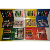 Kit 01 Estojo Maleta Escolar/pintura 28 Peças Personalizado
