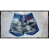 Short Jean Combinado Tiro Alto Tachas Mujer - Xoara Jeans