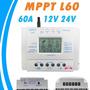Controlador De Carga Para Painel Solar 60a Mppt 12e24v