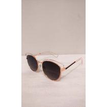 Óculos Sol Feminino Gatinho Armação Metálica Uv 400 Novidade