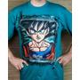 Franela Para Caballero Goku Dragon Ball Pintada A Mano