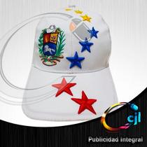 Gorra Revocatorio Blanca Con Estrellas Tricolor En Relieve!!