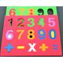 Puzzle Números Goma Eva 30 Formas Con Encastre Stencil