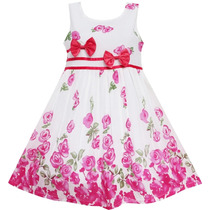 Vestido Criança Verão,floral Azul, Aniversário, Festa, Lindo