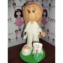 Boneca Dentista Em Eva 3d 23 Cm - Profissões