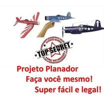 Projeto Planador Avião De Guerra Corsário F4u Original #2015