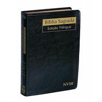 Biblia Sagrada Nvi Trilíngue (esp-ing-port) Luxo Pequena