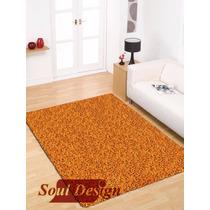 Carpeta Alfombra Satori Shaggy Naranja 120 X 170cm Fundasoul