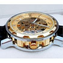 Relógio De Luxo Automático Esqueleto Timi Frete Grátis!
