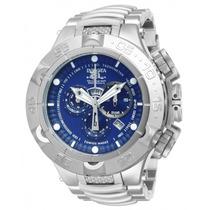 Relógio Invicta 12885 Subaqua Noma V Prata Azul Com Caixa.