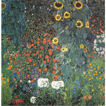 Lienzo Tela El Girasol Gustav Klimt Año 1906 50 X 50 Cm