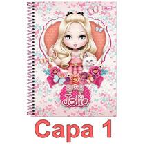 Caderno Jolie 10 Materias 200 Folhas Escolha Sua Capa