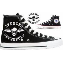 Tênis Avenged Sevenfold All Star Converse Personalizado