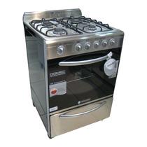 Cocina Domec 56 Cm Multigas Visor Timer Varilla Gruesa Acero