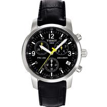 Relógio Tissot Prc200 Couro Preto Original Frete Grátis.