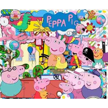 Kit Imprimible Pack Fondos Peppa Pig 16 Clipart