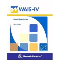 Wais Iv Escala Wechsler Manual Moderno Presentación Cartón