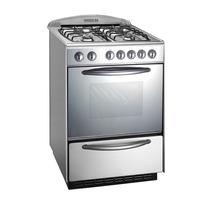 Cocina Domec 60 Cm Multigas Luz Encendido Visor Reflex Acero