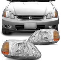 Farol Honda Civic 1996 1997 1998 Máscara Cromada
