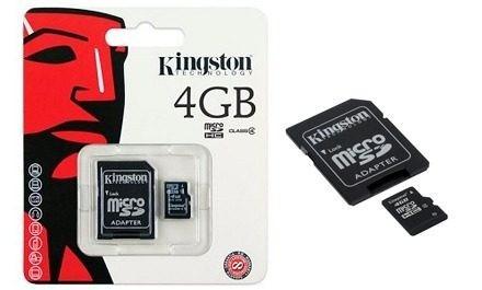 tarjetas de memoria kingston 4gb