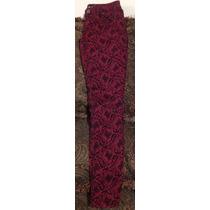 Pantalón Vintage Retro Fashion Skinny Negro /rojo Hippie