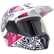 Capacete Moto Bieffe 3 Sport Maori Rosa Lançamento Bieffe