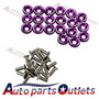 Purple 20 Pc Billet Aluminum Fender/bumper Washer/bolt