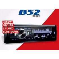 Autoestereo B52 Rm-3017 Usb Mp3 Frente Desmontable Bluetooth