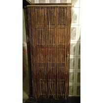 Cortina Porta Bambu Natural Feita A Mão 200x90cm